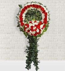 Kırmızı Beyaz Cenaze Çelengi